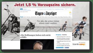 Bank Coop Online-Kampagne für schweizweite Zielgruppe